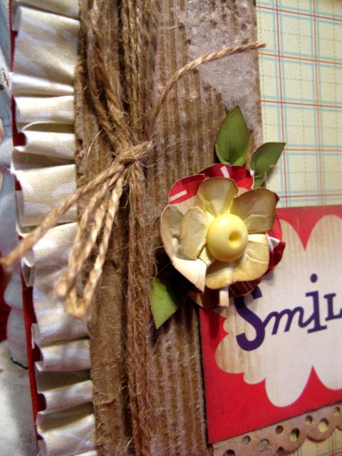 Smile card flower & fringe