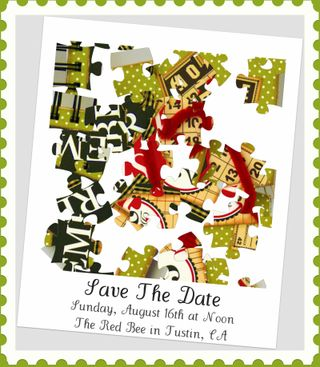 Red bee save the date