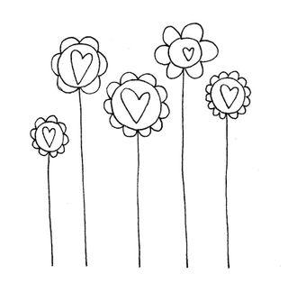 March april doodle skinny flowers