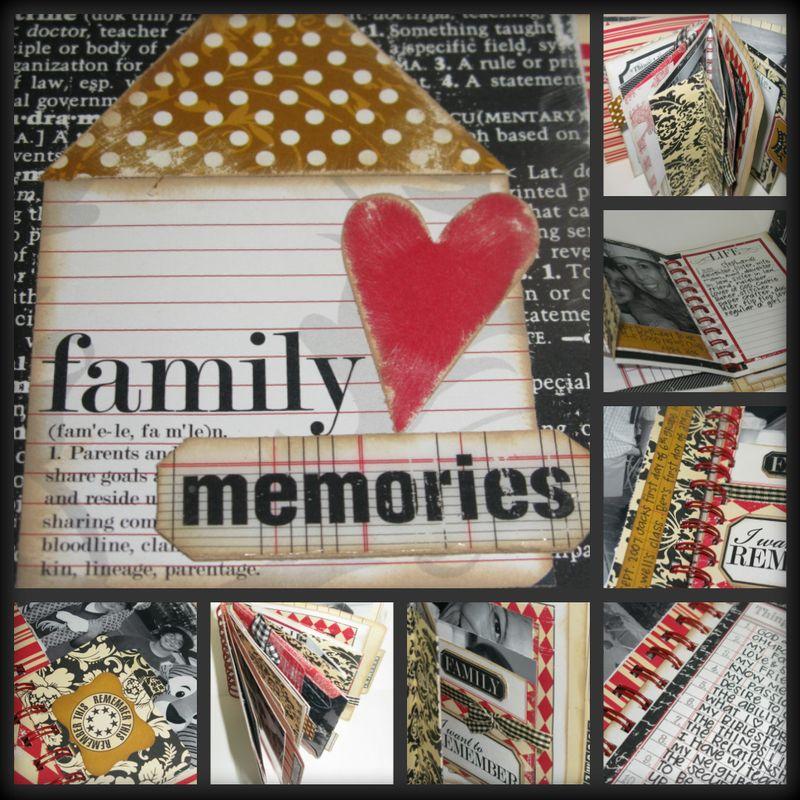 Family memories collage