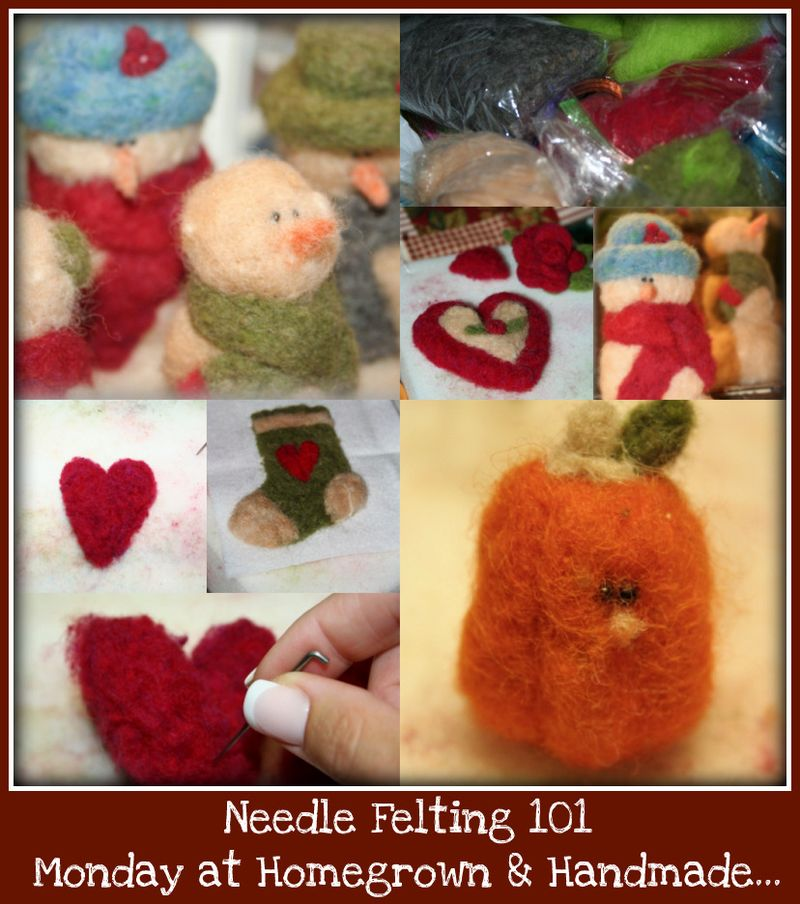 Needle Felting 101 collage