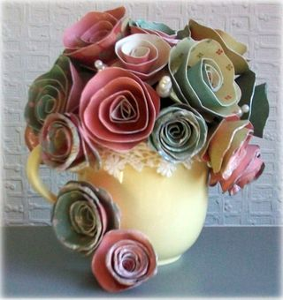 Paper roses by tracy