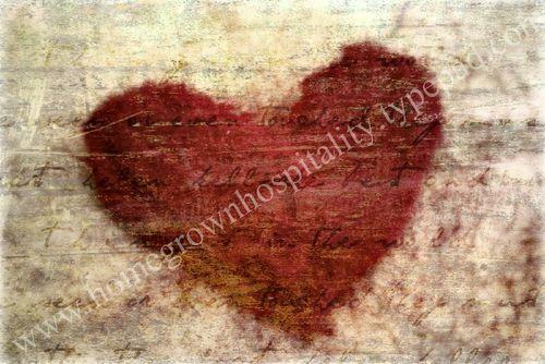 Felted heart watermark