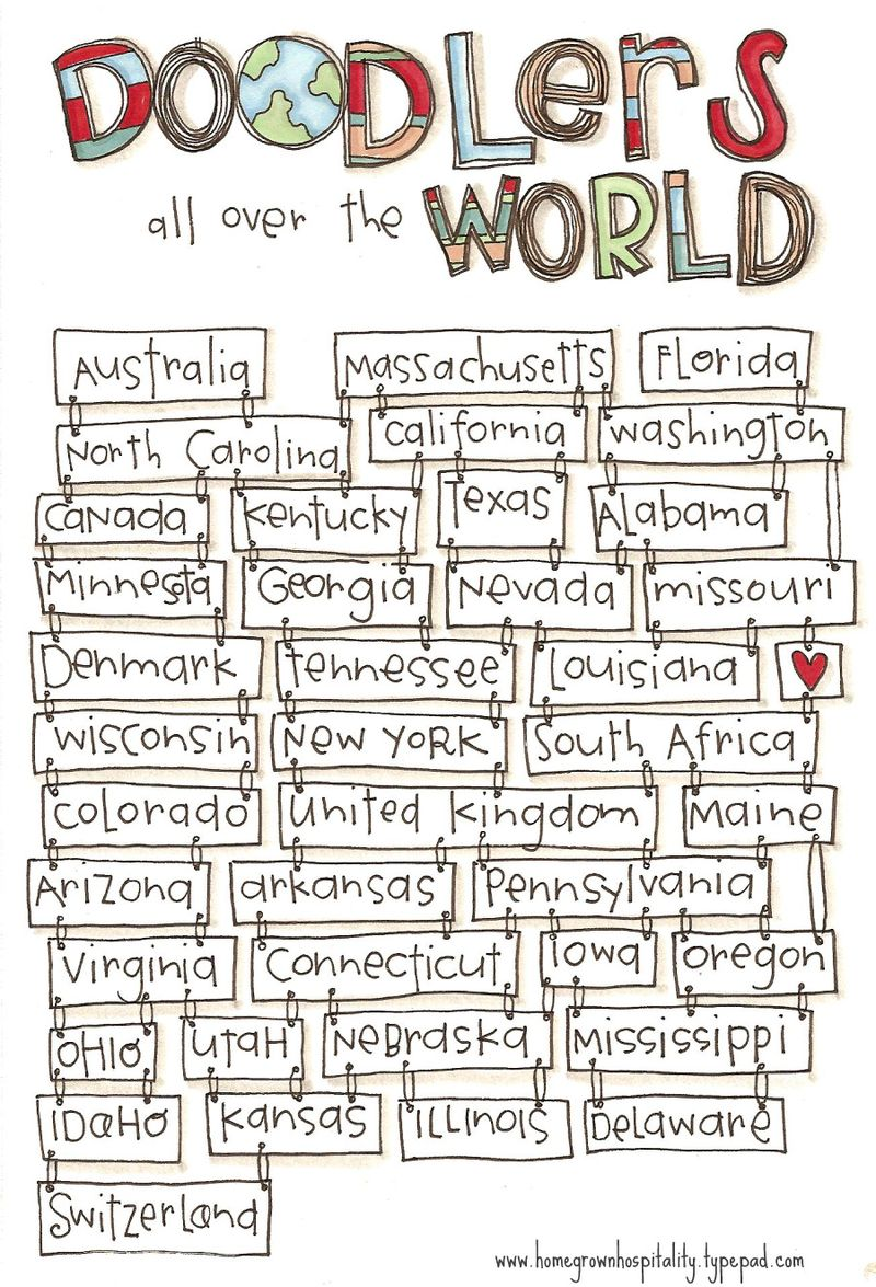 Doodlers all over the world
