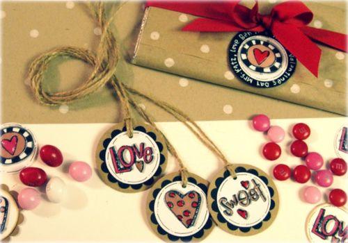 Kraft tags complete valentines