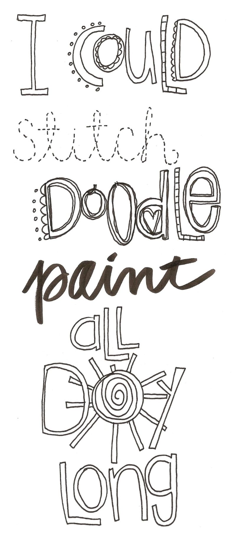 Stitch doodle paint