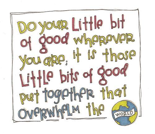Do your little bit