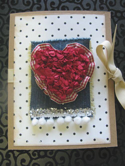 Ruffle heart card done