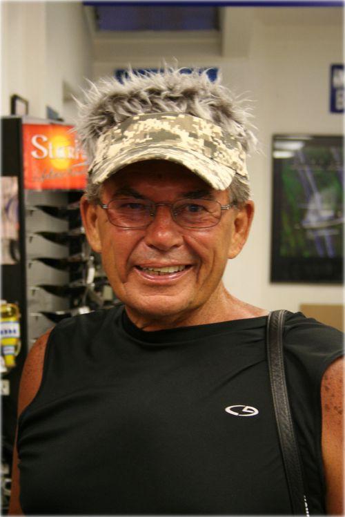 Grandpa hair visor