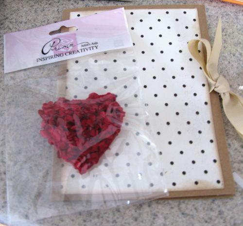 Ruffle heart card heart