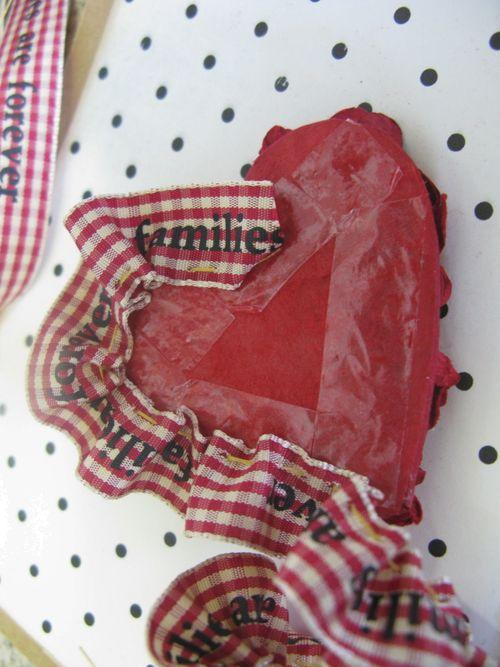 Ruffle heart card ruffle