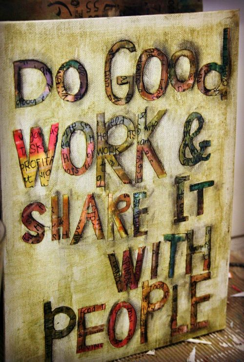 Do good work urbane