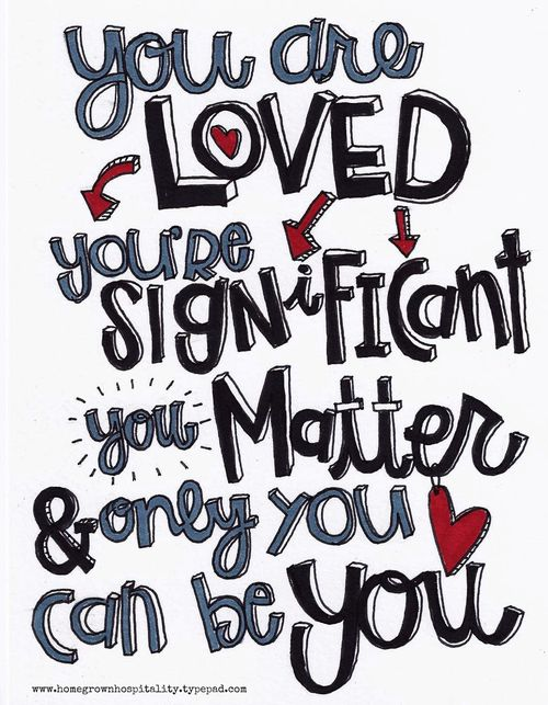 You are loved color