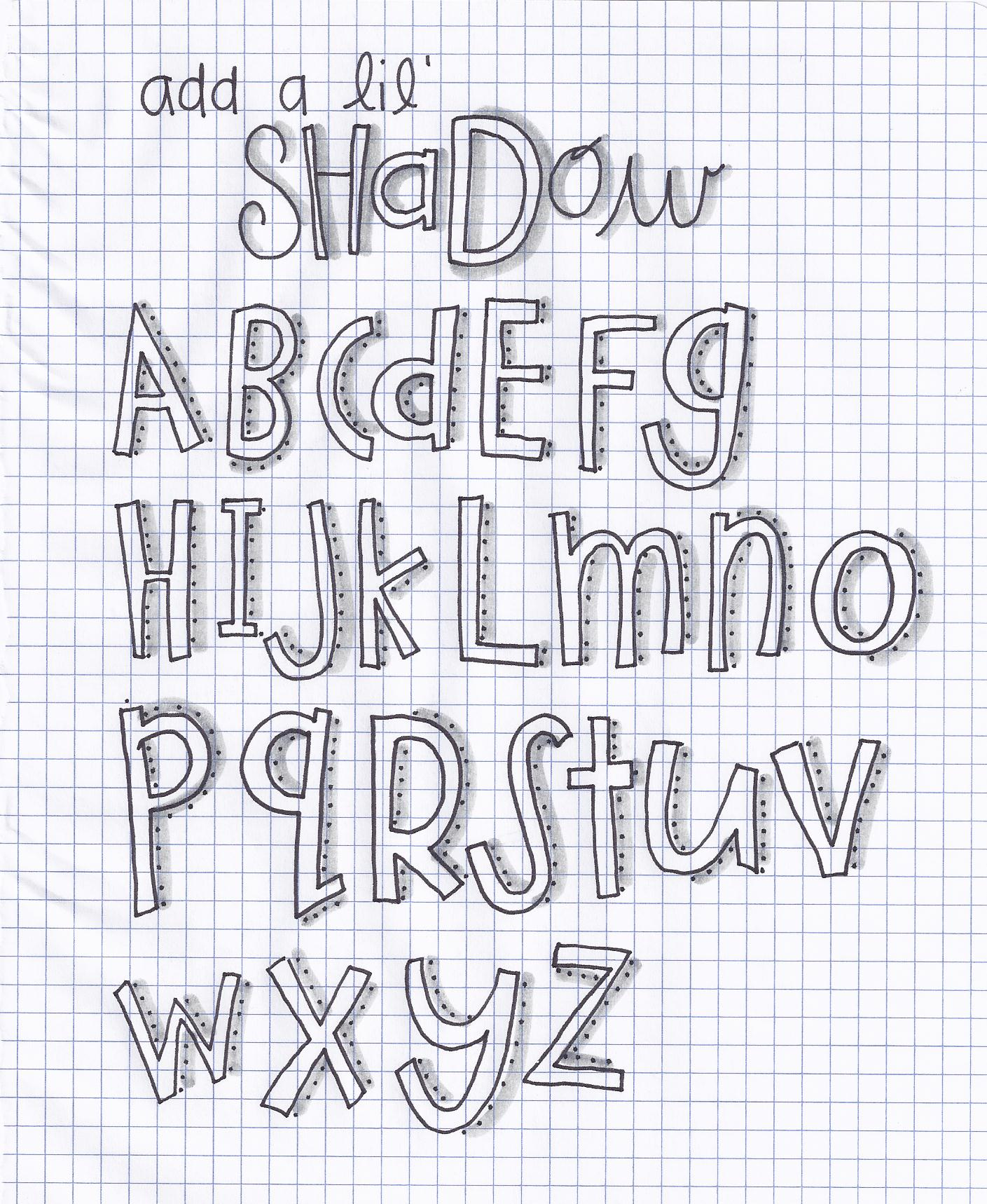 Lettering Details Drawing Projects A Whole New Doodle