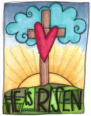 He is Risen watermark