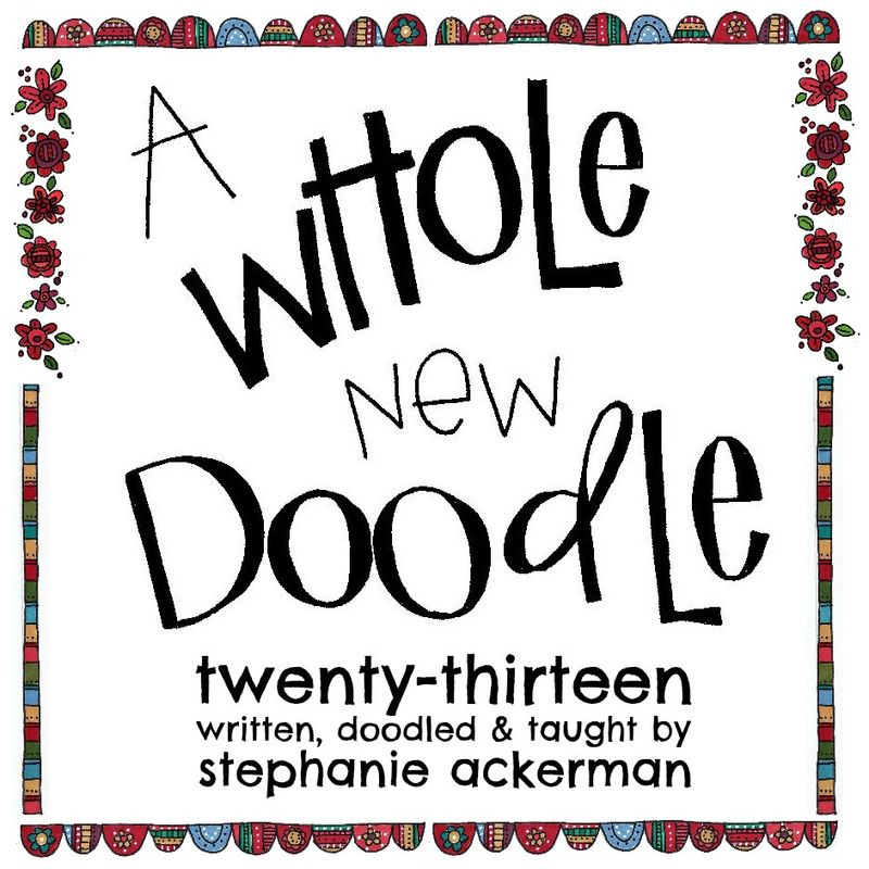 A whole new doodle logo square