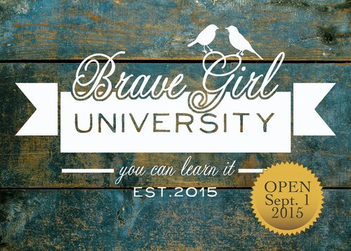 Brave girl university OPEN STICKER
