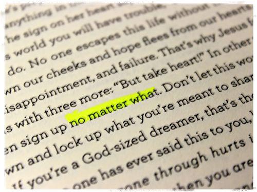 No matter what1
