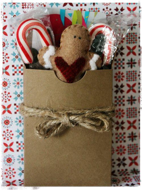 Gingerbread card box