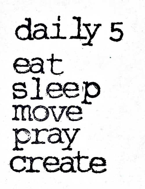 Daily five stamped c