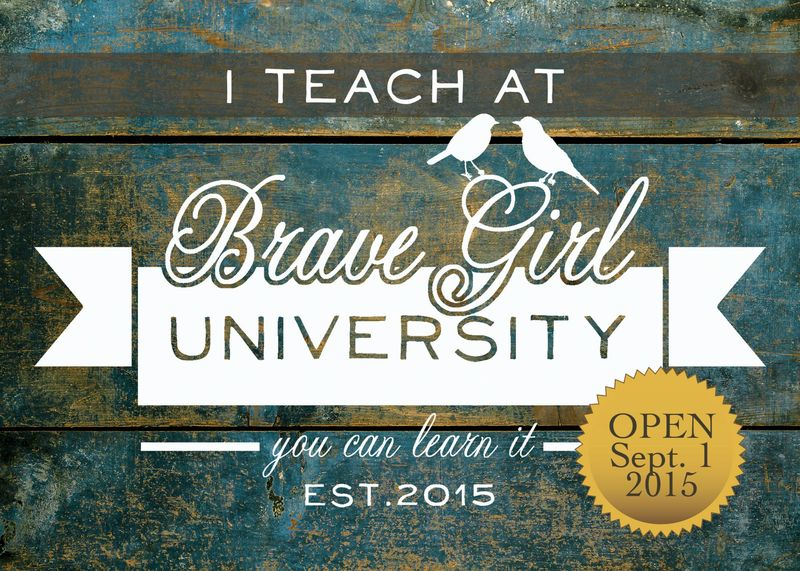 I teach at brave girl university OPEN STICKER
