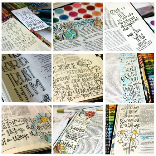 Journaling Bible collage