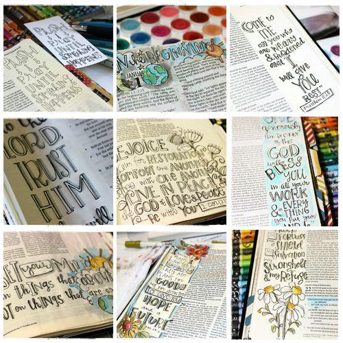 Journaling Bible collage