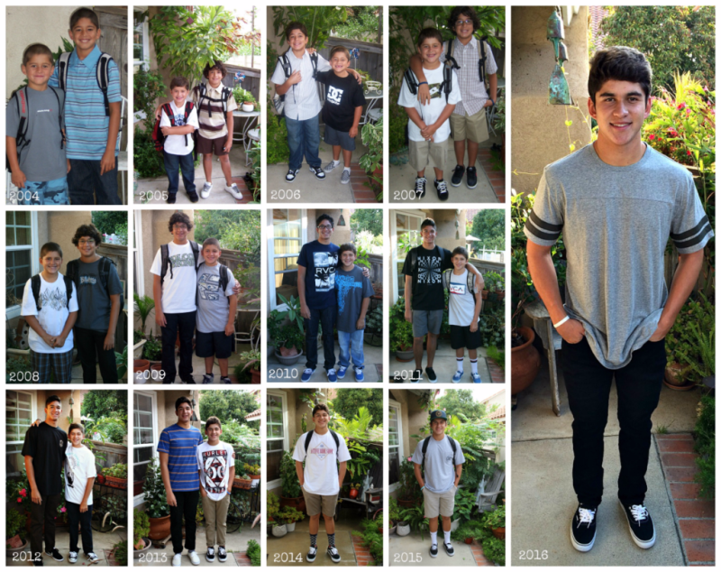 School years collage