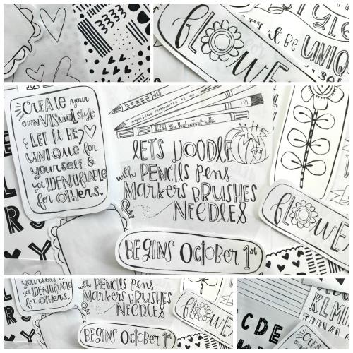 Lets doodle collage