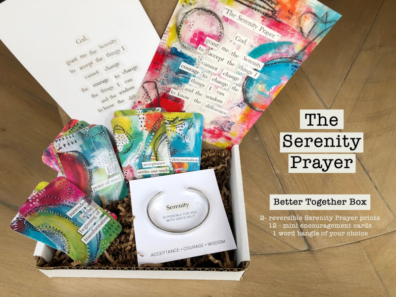 Serenity prayer box 1